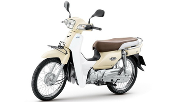Honda Super Cub Slant Rear View Full Image