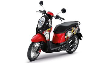 Honda Scoopy i Slant Rear View Full Image