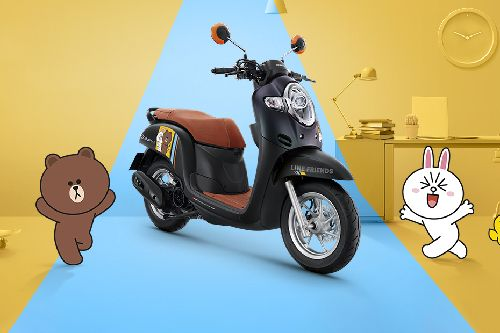 Honda Scoopy I Line Friends Slant Rear View Full Image