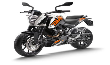 KTM 200 Duke Slant Front View Full Image