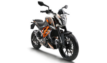 KTM 390 Duke Slant Rear View Full Image